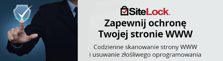 SiteLock - Zapewnij ochronę Twojej stronie WWW - Codzienne skanowanie strony WWW i usuwanie złośliwego oprogramowania