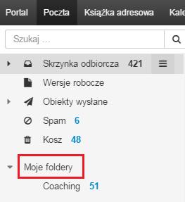 Wyświetlanie wszystkich folderów poczty w Poczcie home.pl