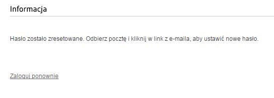 Panel PayU - Okno logowania - Nie pamiętasz hasła? - Login - Informacja - Odbierz pocztę i kliknij w link z e-maila, aby ustawić nowe hasło