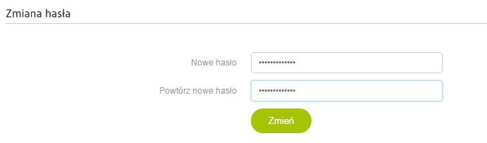 Wiadomość e-mail - Link do zmiany hasła - PayU - Zmiana hasła - Wprowadź nowe hasło i powtórz je