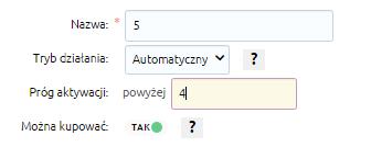 eSklep - Konfiguracja - Asortyment - Stany dostępności - Dodaj stan dostępności - Podaj jego nazwę