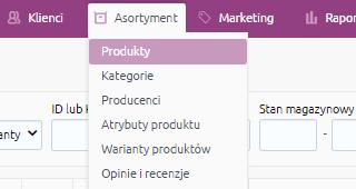 eSklep - Asortyment - Wybierz opcję Produkty