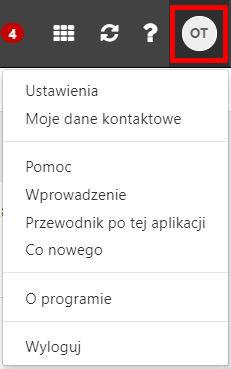 Poczta home.pl - Menu Profil - Wybierz opcję Ustawienia