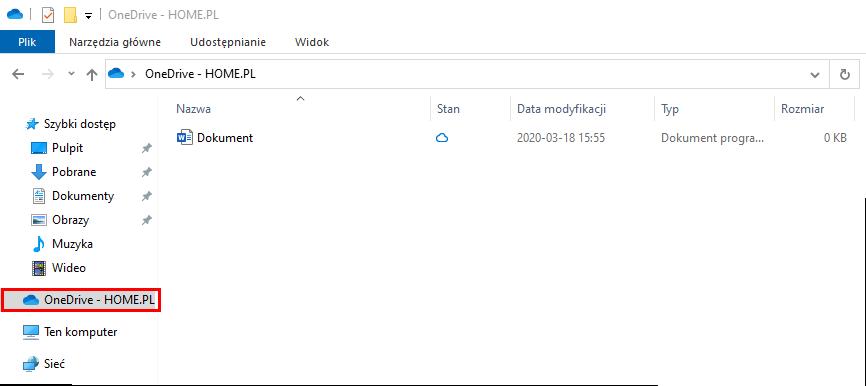 Aplikacja OneDrive na komputerze Windows