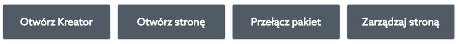 Panel klienta - Kreator WWW - Kliknij przycisk: Otwórz Kreator, aby rozpocząć edycję wybranej strony WWW