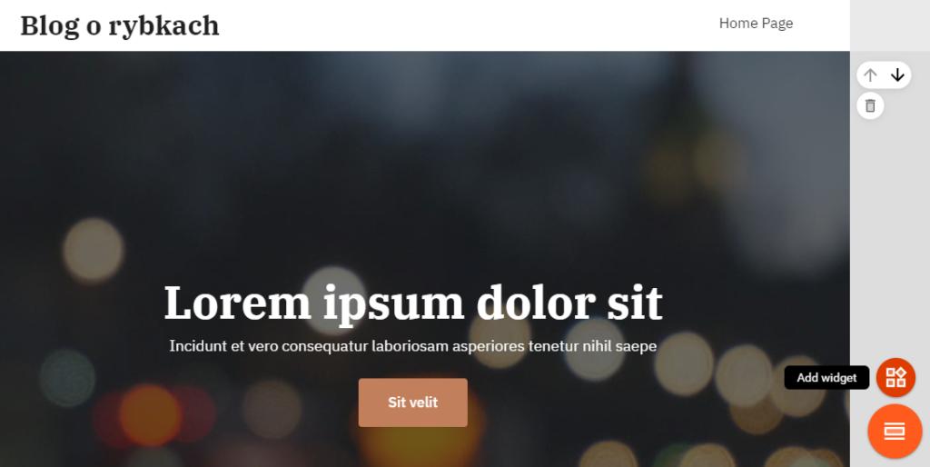 Budowanie strony WWW za pomocą modułów/widgetów
