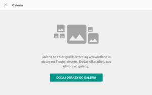 Wstaw galerię lub pokaz slajdów w kreatorze stron WWW