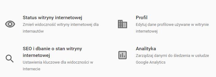 Status strony internetowej w kreatorze WWW