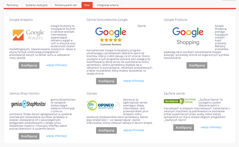 Rozszerzona integracja z Google Analytics – Enhanced Ecommerce