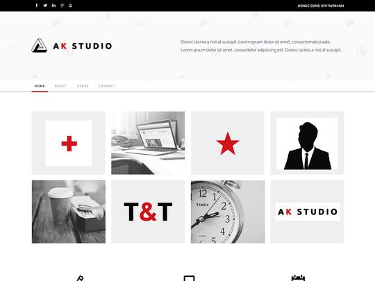 Szablon graficzny dostępny w pakiecie Click Web Unlimited - Ak Studio