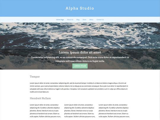 Szablon graficzny dostępny w pakiecie Click Web Unlimited - Alpha Studio