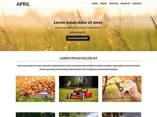 Szablon graficzny dostępny w pakiecie Click Web Unlimited - April