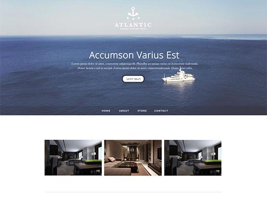Szablon graficzny dostępny w pakiecie Click Web Unlimited - Atlantic