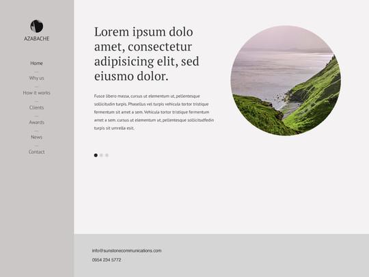 Szablon graficzny dostępny w pakiecie Click Web Unlimited - Azabache