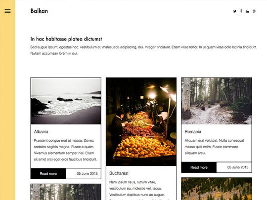 Szablon graficzny dostępny w pakiecie Click Web Unlimited - Balkan
