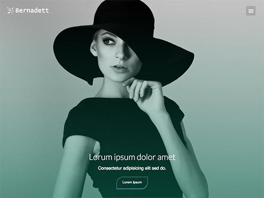Szablon graficzny dostępny w pakiecie Click Web Unlimited - Bernadett