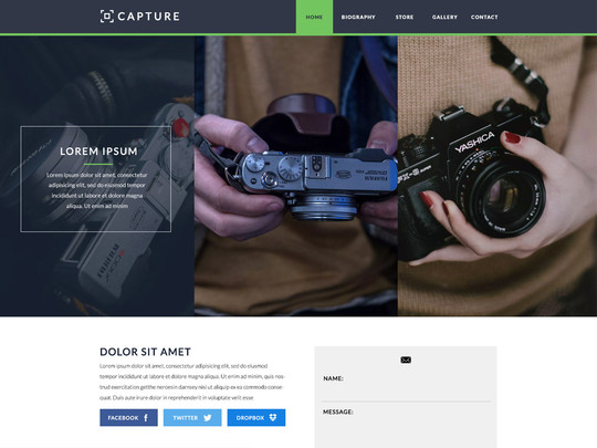 Szablon graficzny dostępny w pakiecie Click Web Unlimited - Capture