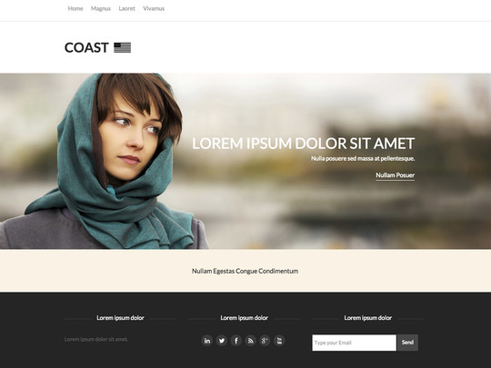 Szablon graficzny dostępny w pakiecie Click Web Unlimited - Coast