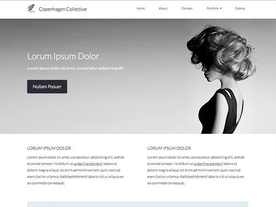 Szablon graficzny dostępny w pakiecie Click Web Unlimited - Copenhagen Collective