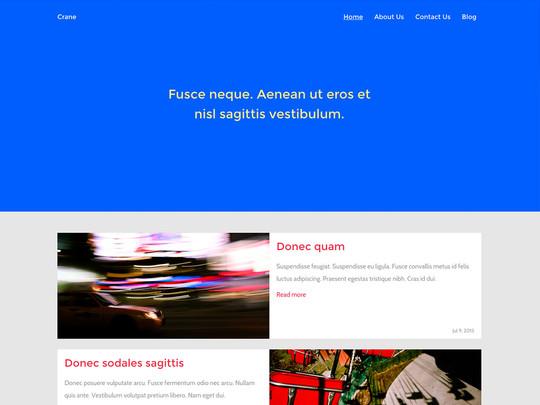 Szablon graficzny dostępny w pakiecie Click Web Unlimited - Crane