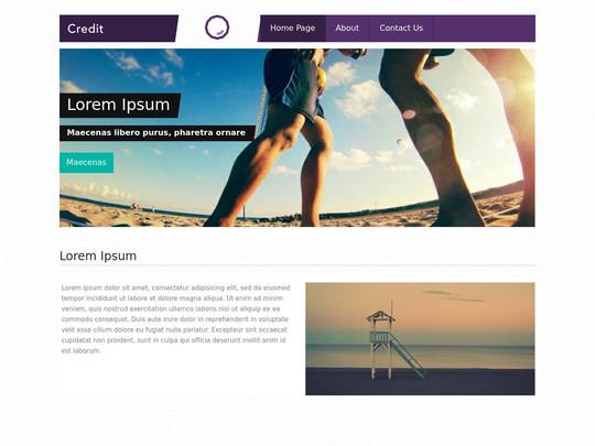 Szablon graficzny dostępny w pakiecie Click Web Unlimited - Credit