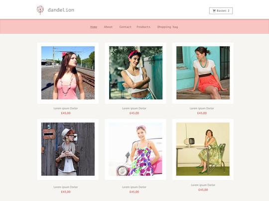Szablon graficzny dostępny w pakiecie Click Web Unlimited - Dandelion