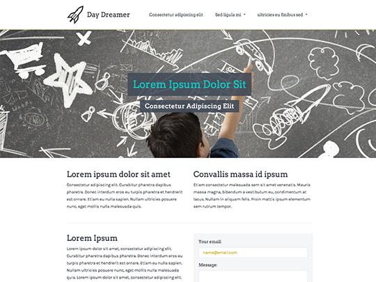 Szablon graficzny dostępny w pakiecie Click Web Unlimited - Day Dreamer