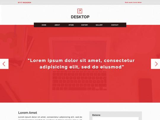 Szablon graficzny dostępny w pakiecie Click Web Unlimited - Desktop
