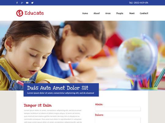 Szablon graficzny dostępny w pakiecie Click Web Unlimited - Educate