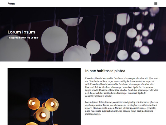 Szablon graficzny dostępny w pakiecie Click Web Unlimited - Form