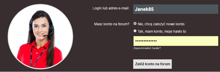 Logowanie i rejestracja konta w serwisie forum.home.pl