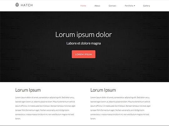 Szablon graficzny dostępny w pakiecie Click Web Unlimited - Hatch