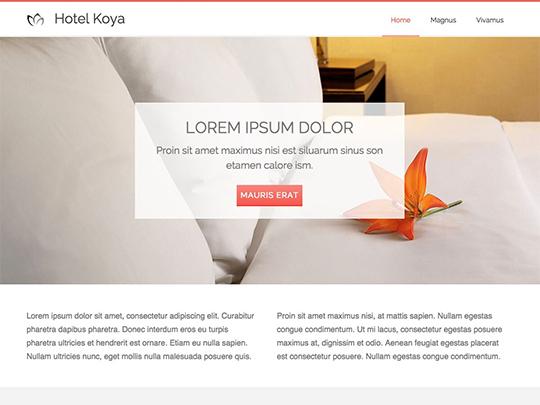 Szablon graficzny dostępny w pakiecie Click Web Unlimited - Hotel Koya