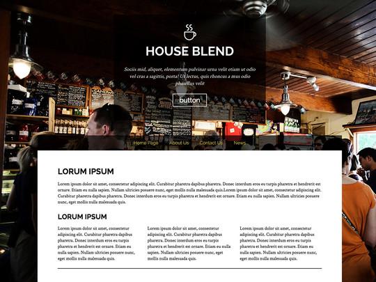Szablon graficzny dostępny w pakiecie Click Web Unlimited - House Blend