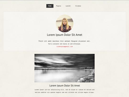 Szablon graficzny dostępny w pakiecie Click Web Unlimited - Loreen