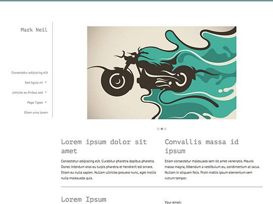 Szablon graficzny dostępny w pakiecie Click Web Unlimited - Mark Neil