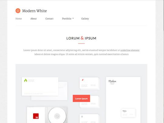 Szablon graficzny dostępny w pakiecie Click Web Unlimited - Modern White