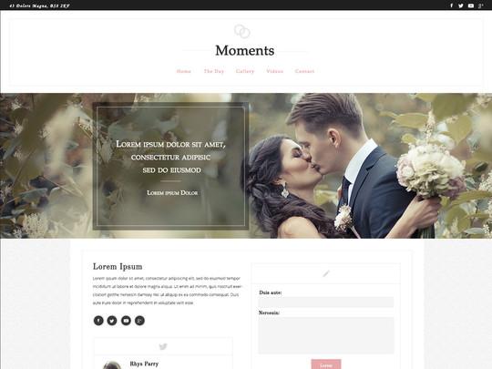 Szablon graficzny dostępny w pakiecie Click Web Unlimited - Moments