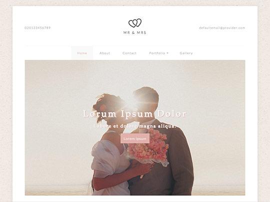 Szablon graficzny dostępny w pakiecie Click Web Unlimited - Mr and Mrs