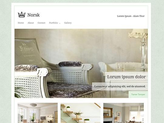 Szablon graficzny dostępny w pakiecie Click Web Unlimited - Norsk