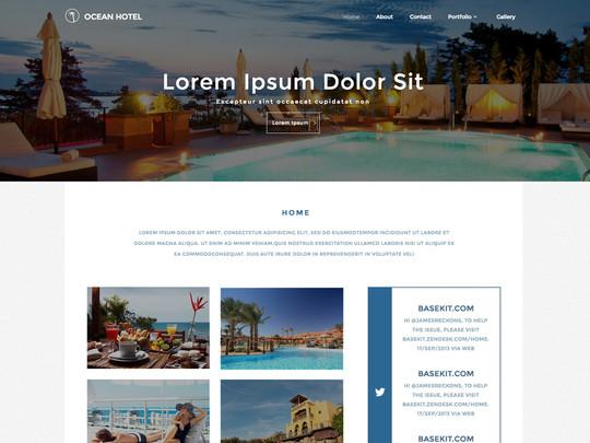 Szablon graficzny dostępny w pakiecie Click Web Unlimited - Ocean Hotel