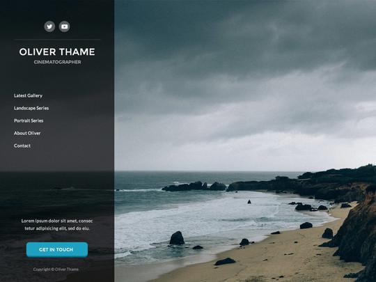 Szablon graficzny dostępny w pakiecie Click Web Unlimited - Oliver Thame
