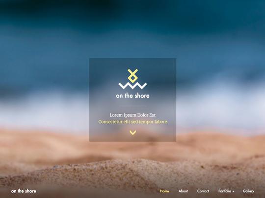 Szablon graficzny dostępny w pakiecie Click Web Unlimited - on the shore