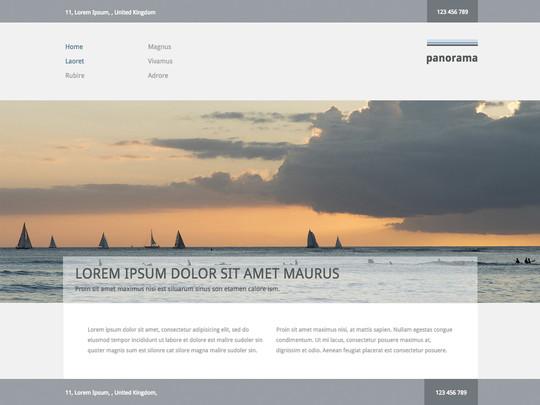 Szablon graficzny dostępny w pakiecie Click Web Unlimited - Panorama