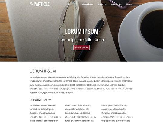 Szablon graficzny dostępny w pakiecie Click Web Unlimited - Particle