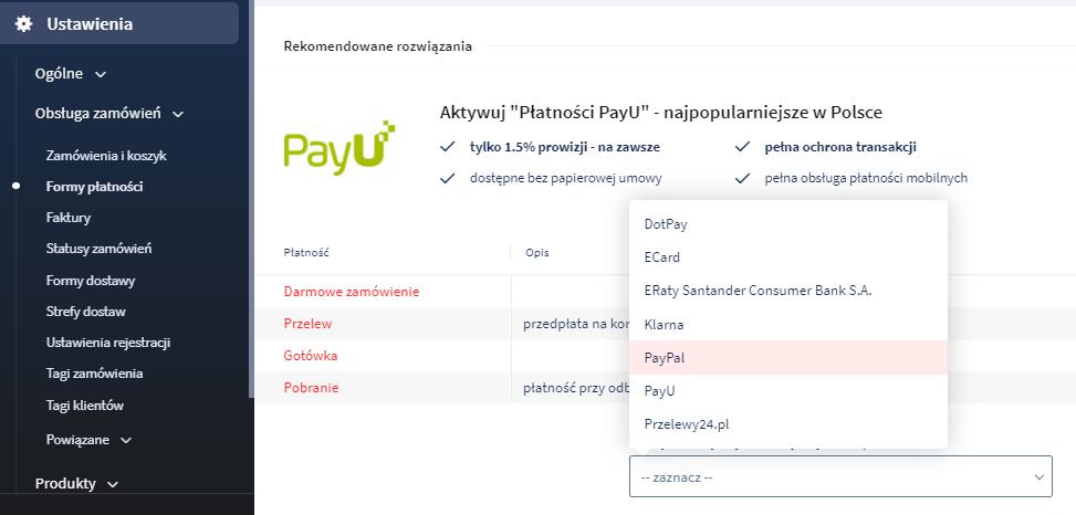 Konfiguracja płatności PayPal w sklepie internetowym