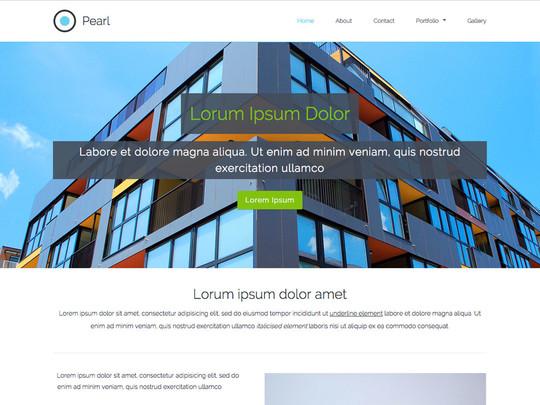 Szablon graficzny dostępny w pakiecie Click Web Unlimited - Pearl