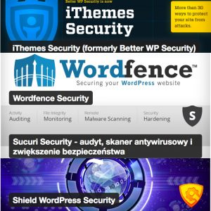 Reklama wtyczek - Securing your WordPress website - Wordfence Security - iThemes Security - Sucuri Security - Shield WordPress Security