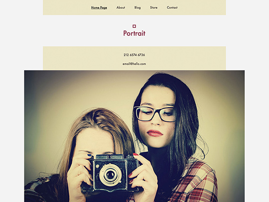 Szablon graficzny dostępny w pakiecie Click Web Unlimited - Portrait
