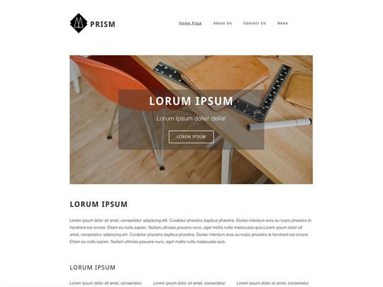 Szablon graficzny dostępny w pakiecie Click Web Unlimited - Prism